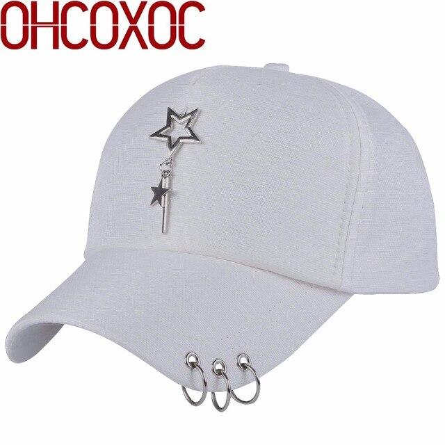 Hombre mujer deportes sombrero tapas de diseño de la estrella metal ...