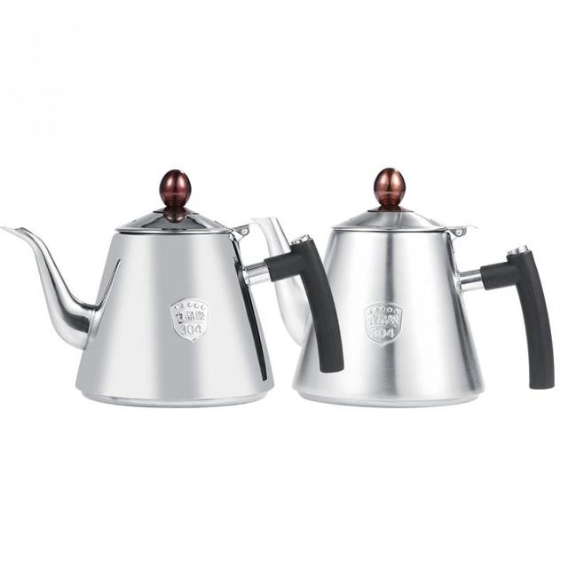 1 2l Stainless Steel Stove Top Teapot Tea Coffee Pot Kettle Heat Resistant Water