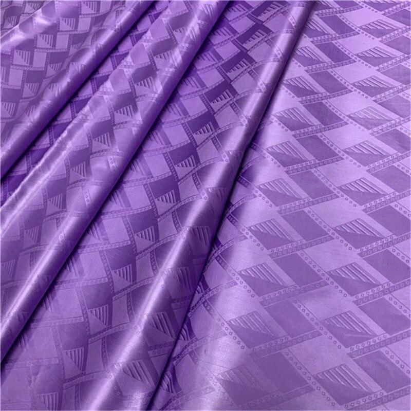 2019 de gama alta multi color Bazin Riche Getzner 5 yardas de tela de guinea de calidad austriaca 100% algodón de encaje africano tela púrpura-in encaje from Hogar y Mascotas    1