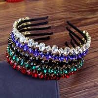 Wunderschöne Bing Party Haar Schmuck Rot Grün Schwarz Blau Kristall Stein Haarbänder strass Diamante Stirnband Für Charmante Frauen