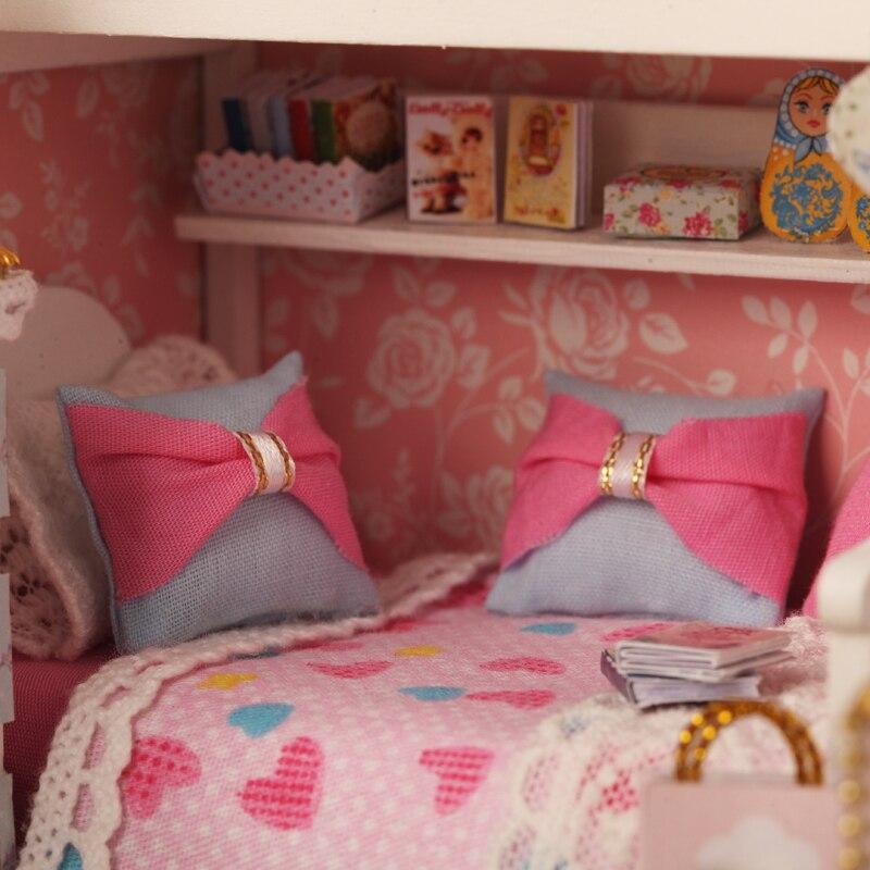 Casas de Boneca boneca em miniatura casa de Material : Madeira