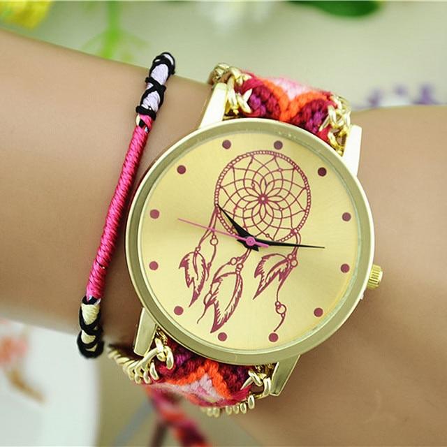 Womens Watches Bracelets Reloj Mujer Excellent Quality Quartz Dreamcatcher Brace