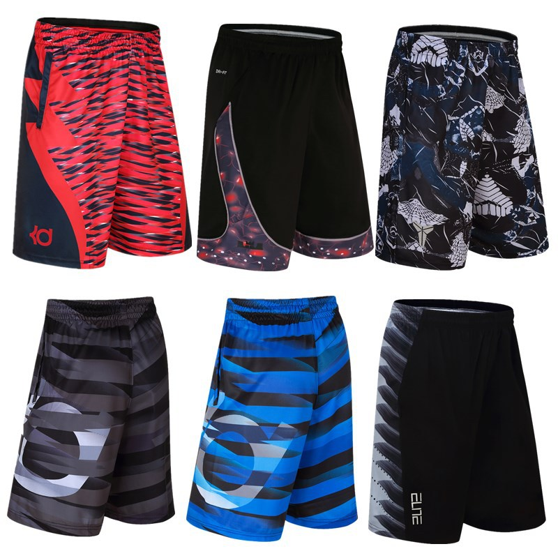 Cross-border Blasting Basketball Sport Shorts Five Shorts Trousers James Durant Sports Short Male Loose Large Size Over The Knee