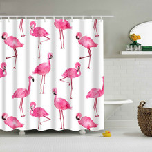 hoomall hot flamingo shower curtain washable bath decor polyester fabric cute animal print bathroom curtain polyester - Cute Shower Curtains