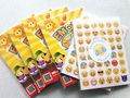 20 Sheets Emoji Sticker Pack containing 48Emojis Die Cut Emoticons Characters Symbols Smiley Faces expression Wall Stickers