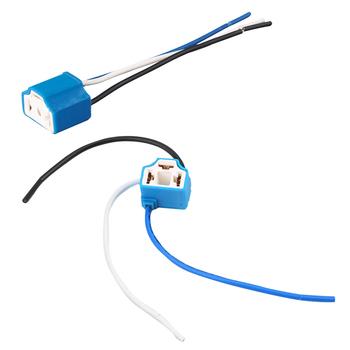 2 sztuk partia samochodów H4 9003 HB2 Hi Lo ceramiczne drutu kable w wiązce reflektor rozszerzenie gniazdo HID LED kable w wiązce gniazdo wtykowe tanie i dobre opinie BYGD ZS97238 Kable Adaptery i gniazda