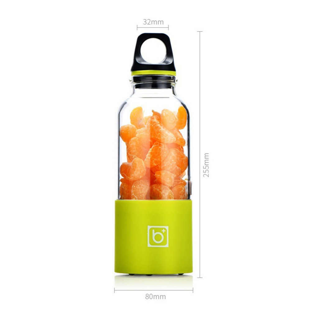 500 ML Copo Espremedor Elétrico Portátil USB Recarregável Garrafa Fabricante De Suco de Frutas Legumes Extrator De Suco Misturador Liquidificador