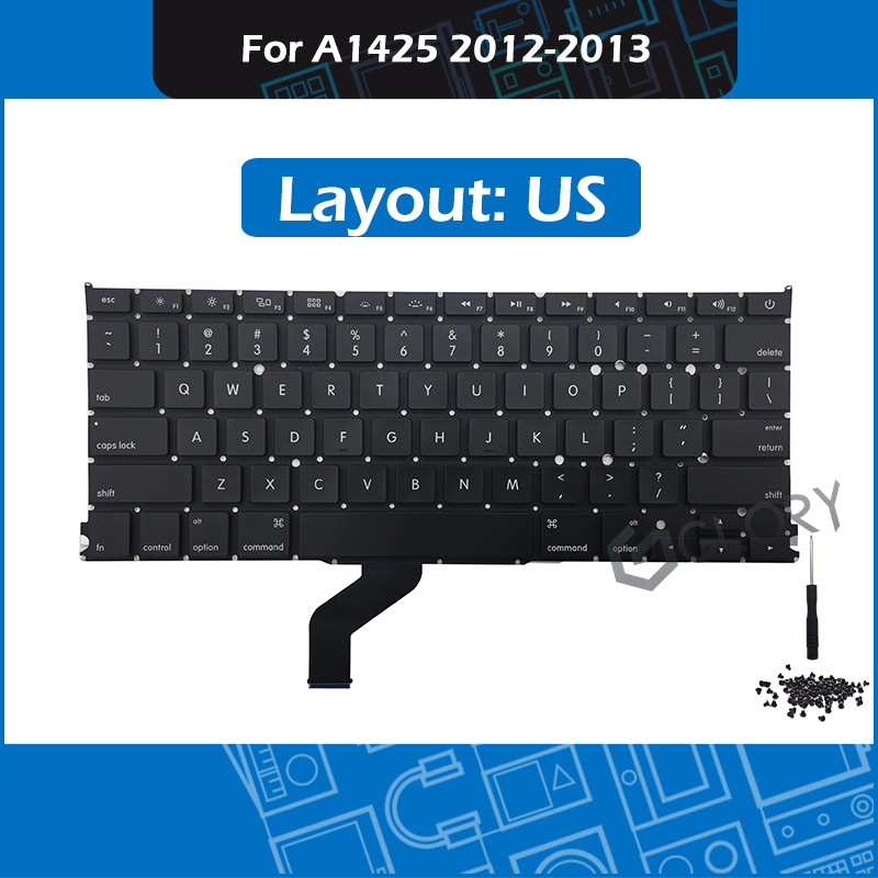 New A1425 US Standard Keyboard for font b Macbook b font Pro Retina 13 A1425 Keyboard