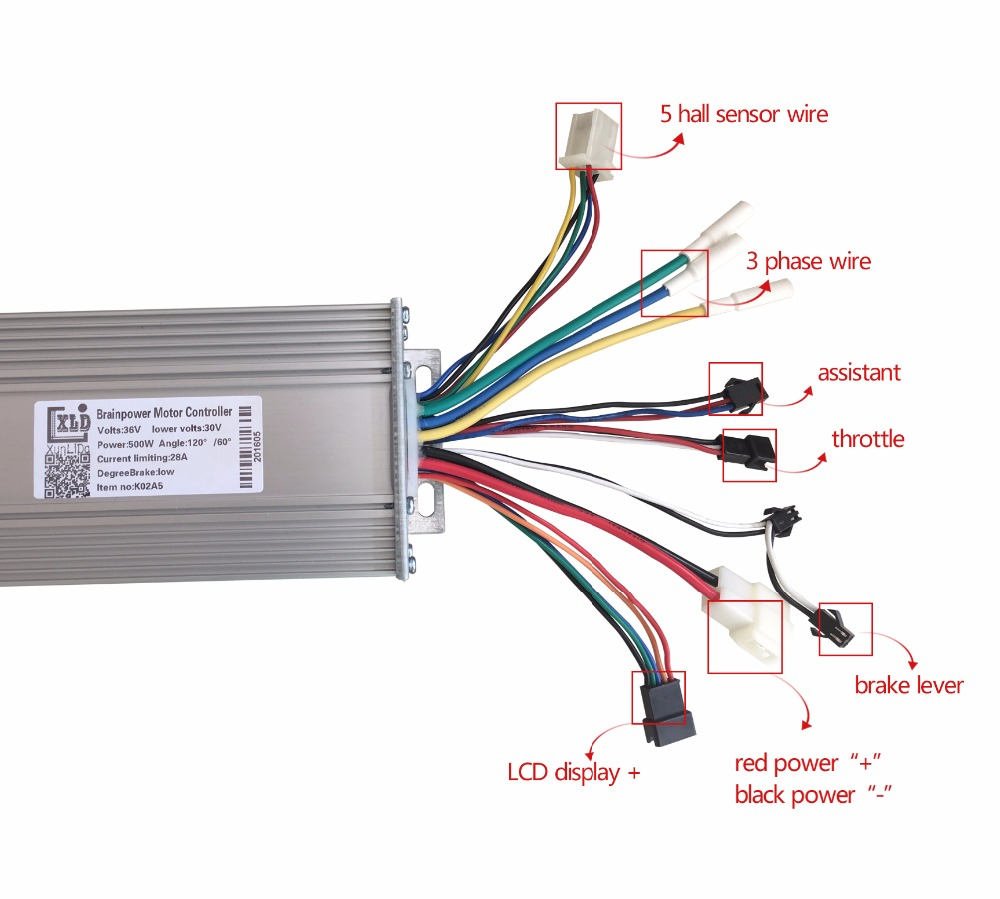 ФОТО Powerful single/double direction 24v36v48v 500w600w800w1000w electric brushless DC motor controller electric bicycle accessories