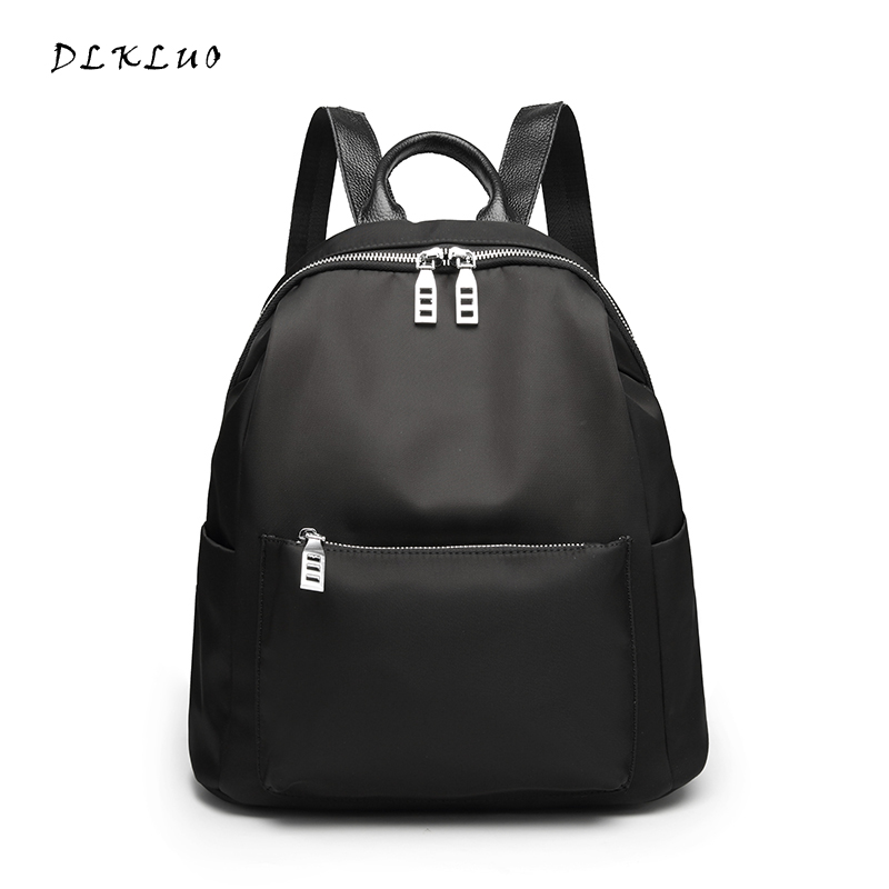 2017 new Fashion Nylon double shoulder women s leisure bag Oxford cloth large capacity travel backpack