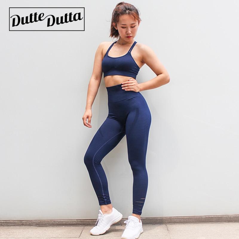 Duttedutta тренировки одежда для Для женщин спортивная спортивный костюм тренажерный зал спортивный Active одежда Фитнес Костюмы спортивный бюстг...