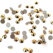 Aurum Color All Size 1 Bag Crystal Non Hotfix Rhinestones Flatback  DIY Nail Jewelry Sticker Decorations For Art Designs