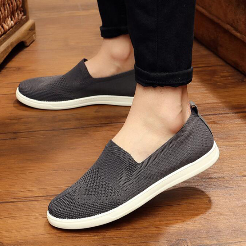 Men Casual Shoes Breathable Air mesh Shoes Men sneakers Fashion Solid Slip-on Zapatillas Hombres Male Sapato Masculino