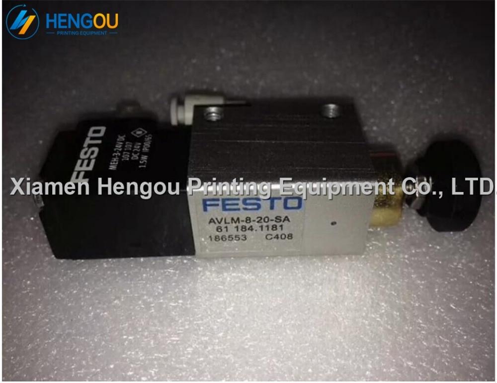1 Piece Front Lay Solenoid valve FESTO AVLM-8-20-SA 61.184.1181 for Heidelberg printing Cylinder Valve unit стоимость