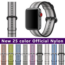 FOHUAS 25 color 42mm band for apple watch series 3 2 1 woven nylon band feel strap for iWatch colorful pattern classic buckle(China)