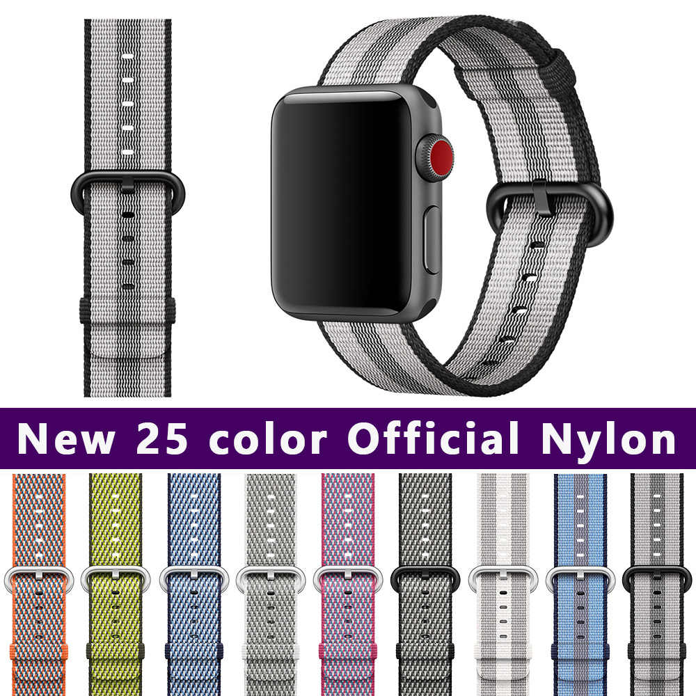 FOHUAS 25 color 42mm band for apple watch series 3 2 1 woven nylon band feel strap for iWatch colorful pattern classic buckle