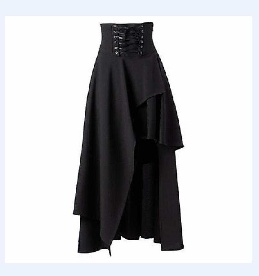 Steampunk Skirts Womens Black Skirts Basic Vintage Long ...