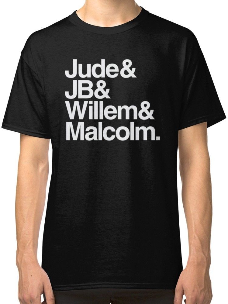 A Little Life Book Jude JB Willem Malcolm Black Tees Shirt Clothing