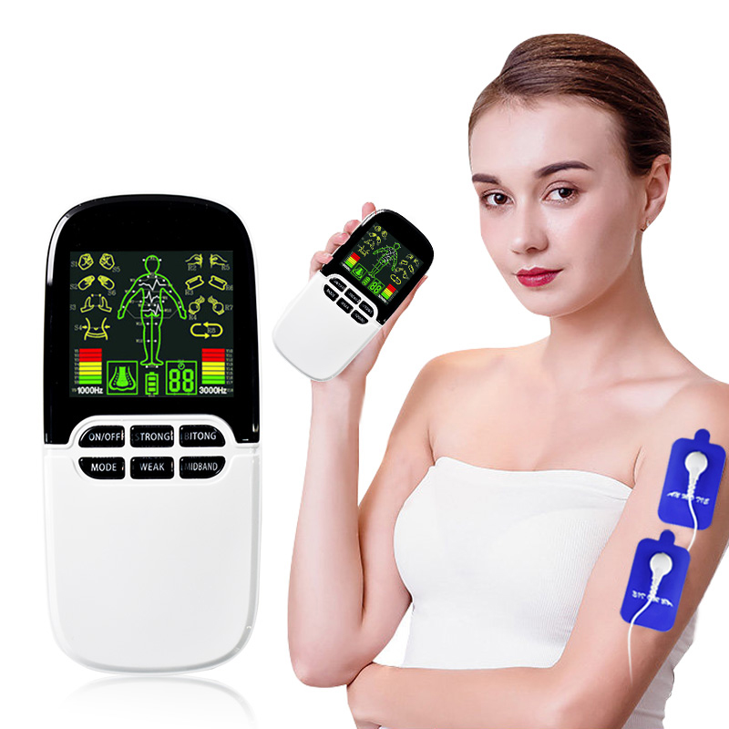 8 Modes Dual-Output Tens Acupuncture Cupping Therapy Massager Electric Slimming Rhinitis Device Body Relax Ems Muscle Stimulator