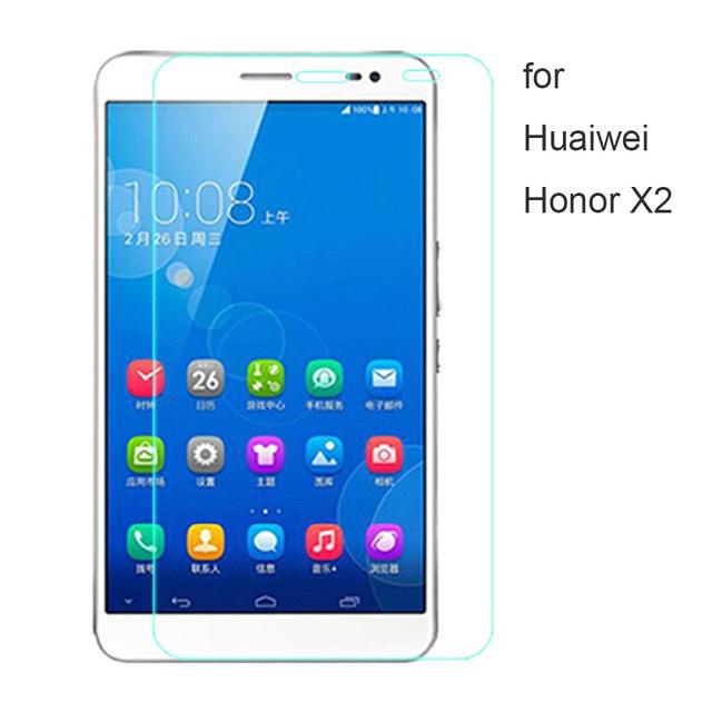 3 unids/lote súper delgada pantalla de vidrio templado de cine para huawei honor x2 vidrio fácil de instalar teléfonos móviles a prueba de arañazos