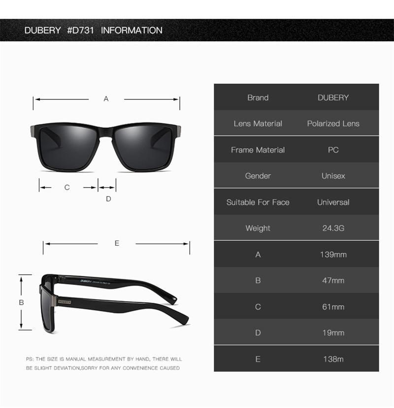 3582922d270 DUBERY Polarized Sunglasses Men Driving Shades Male Sun Glasses ...