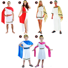 Ladies Men Boy Girls Greece Cosplay Costume Roman Grecian Goddess Fancy Dress Outfit Party Supplies