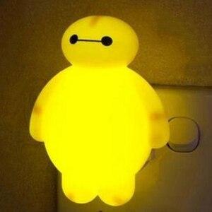 Новинка, ночной Светильник Большой Герой baymax 3 Вт, luminaria, белый, зеленый, желтый цвет, лава, лампа для украшения детской комнаты, luminaria de mesa