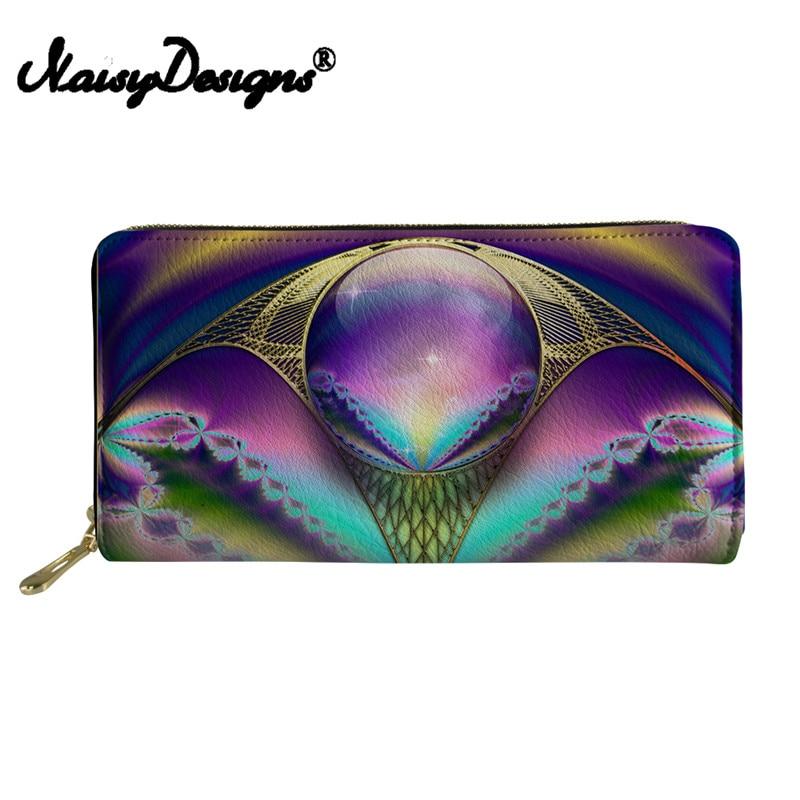 Noisydesigns Womens Wallets Purses Coin purses canta Girls Mini Travel Rfid Wallet Female Geometry Print Coin Purse Men Pochette