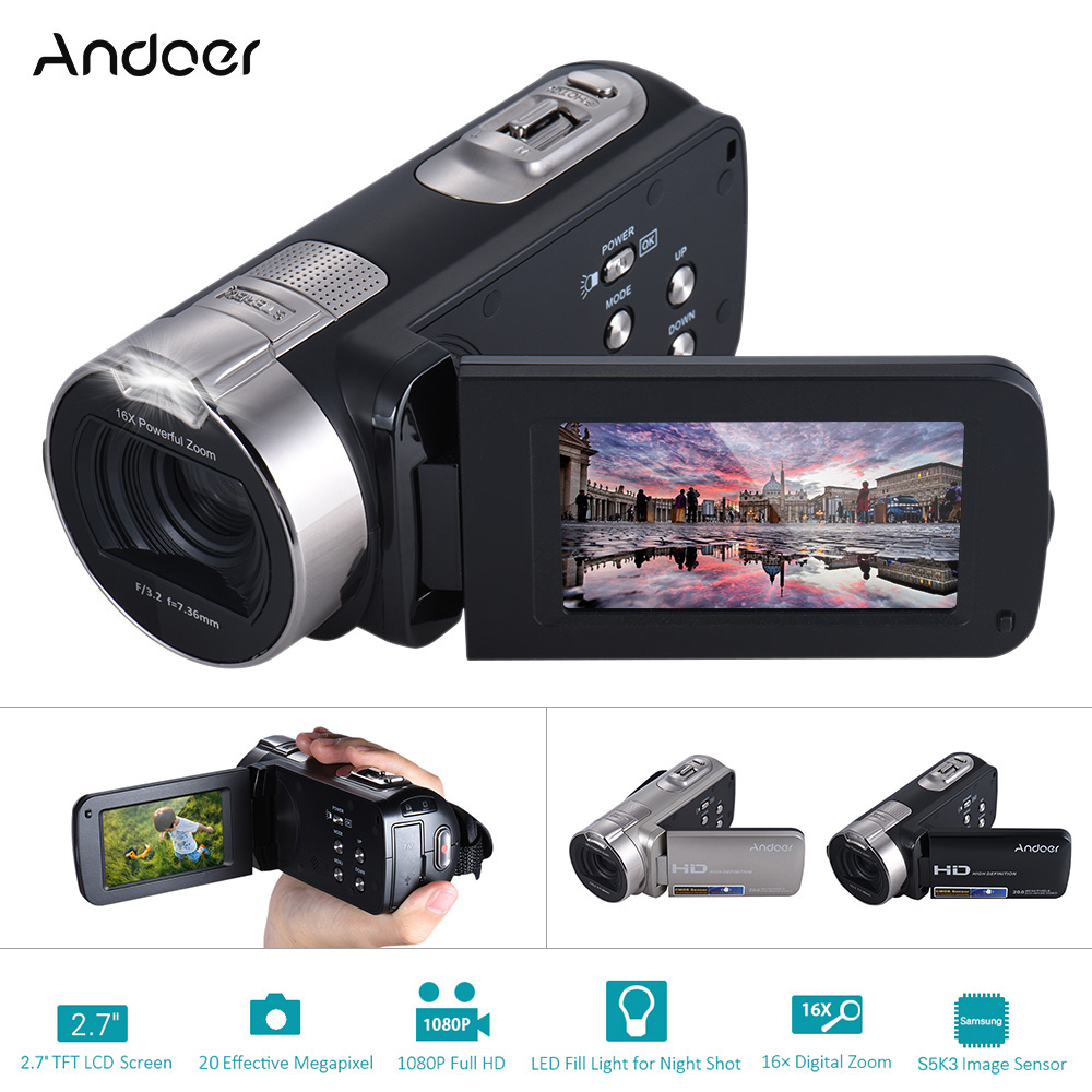 Schnelle Lieferung 1080p Hd 24mp 16x Zoom Digital Video Dv Recorder Camera Camcorder Night Vision Foto & Camcorder