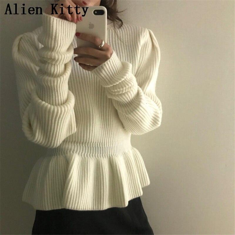 Alien Kitty De Mode D'hiver Élégant Élégant Chandail Femmes Confortable Pull Col Roulé Chaud Doux Haute Qualité Élégant Frais