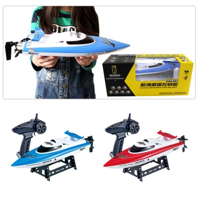 Hot Double-deck waterproof high speed RC boat HQ-961 2.4G 4ch 100M 45CM 25-30KM/H cooling system large electric RC speedboat toy