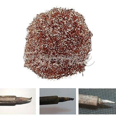 Welding Soldering Solder Iron Tip Cleaner Cleaning Steel Wire Sponge Balls R02 Drop ship