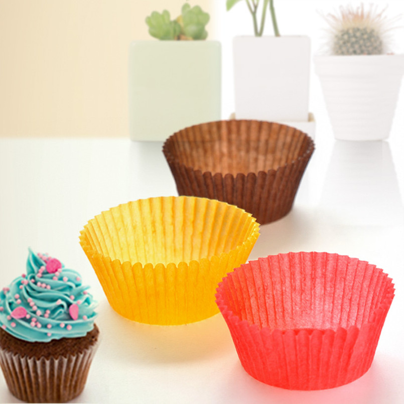 Baking Paper Cake Cup Color Molds Wholesale 100PCS/Bags Random Color GWS-100 Kitchen baking supplies free shipping