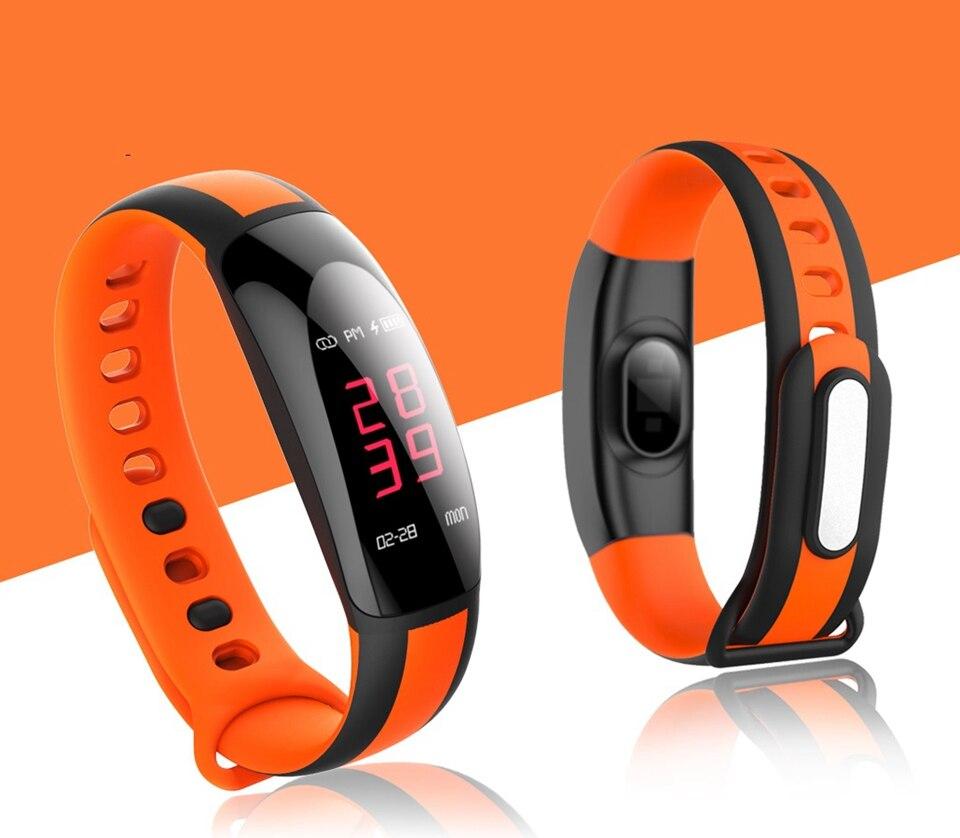 U8plus Smart waterproof sport  heart rate Bracelet Fitness Tracker Watch Alarm Clock Sleep Monitorsmart band for andriod ios cute love heart hollow out bracelet watch for women
