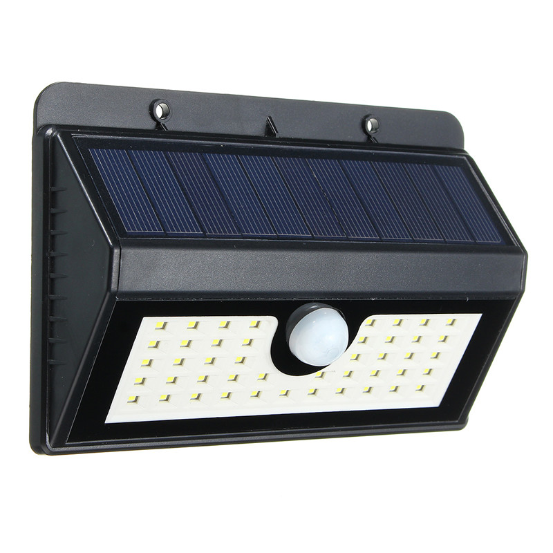 Smuxi 45 LED Solar Light Waterproof Solar Powered PIR Motion Sensor Outdoor LED Garden Light Emergency Pathway Wall Lamp contrast striped petal sleeve dip hem shirt