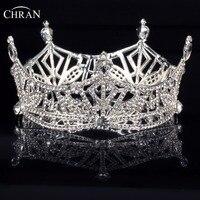 Chran Miss America Full Crown Austrian Rhinestone Tiaras Bridal Hairwear Pageant Vine Wedding Headband Hair Accessories Jewelry