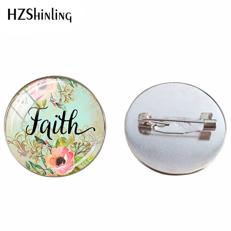 2019 New Bible Verse Love Wish Dream Letter Brooch Quote Inspirational Women Men Christian Jewelry Pins Handmade Gifts