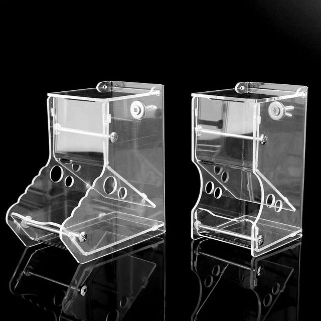 New Automatic Hamster Feeder Acrylic Food Feeding Dispenser for Guinea Pig Gerbil Pigeon 5