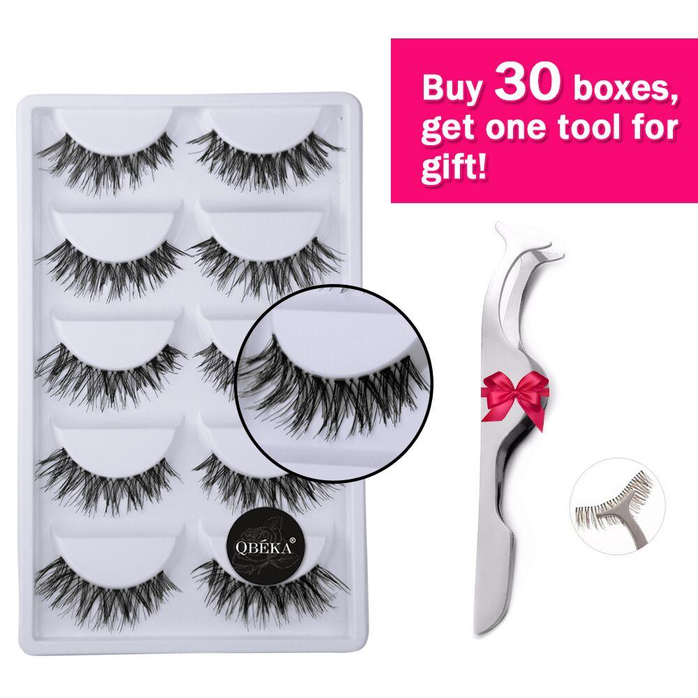 5 Pairs Crossed False Eyelashes Strips Thick Natural Fake Eyelash Cilios Eye Lashes Makeup Tool Soft Lash Extensions Eyelash A20