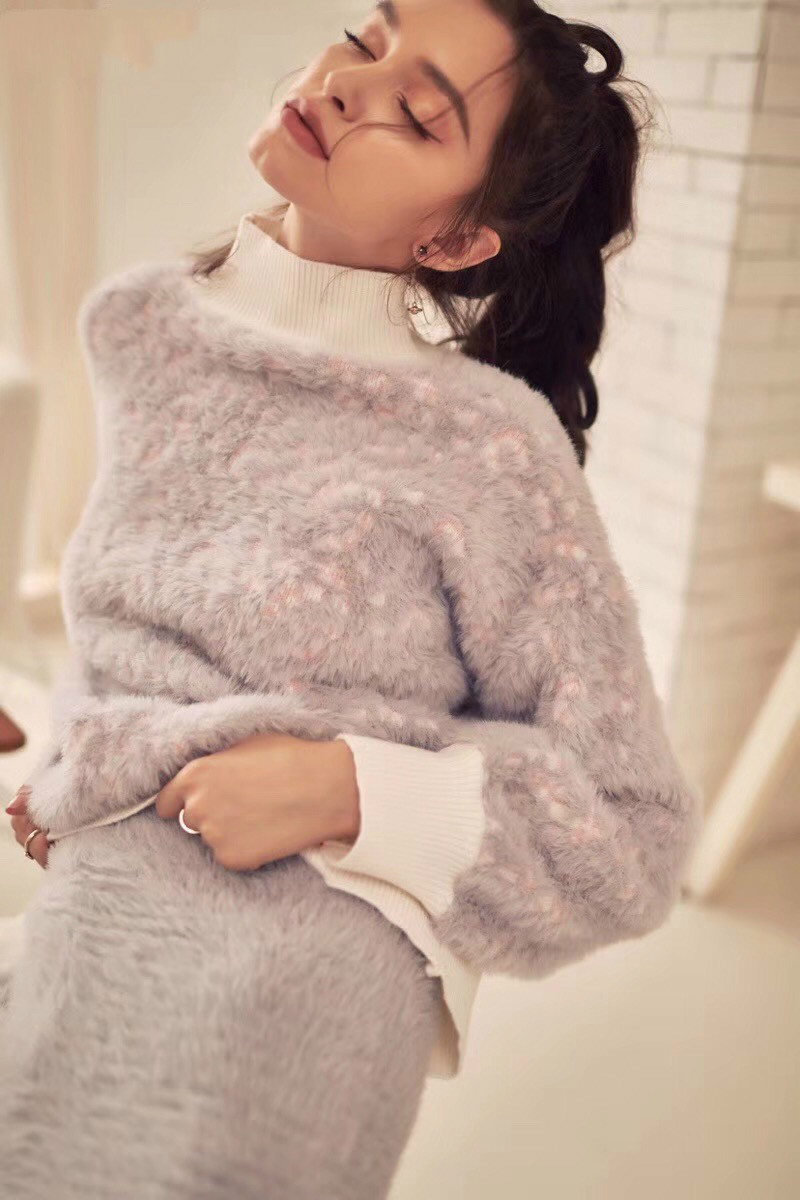 Pyjamas Women Limited Sale Unicorn Pajamas Womens Suit 2018 New Imitation Design Soft Thick High Collar Two piece Female Winter - 4
