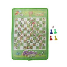 OOTDTY Snake and Ladder Kids Flying Chess Non-woven Fabric Portable Family Board Game