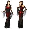 Vampiro gótico Sexy Disfraz de Halloween Vestido de Traje de Bruja Sexy Traje de Las Mujeres Del Partido de La Mascarada de Halloween Cosplay 8836