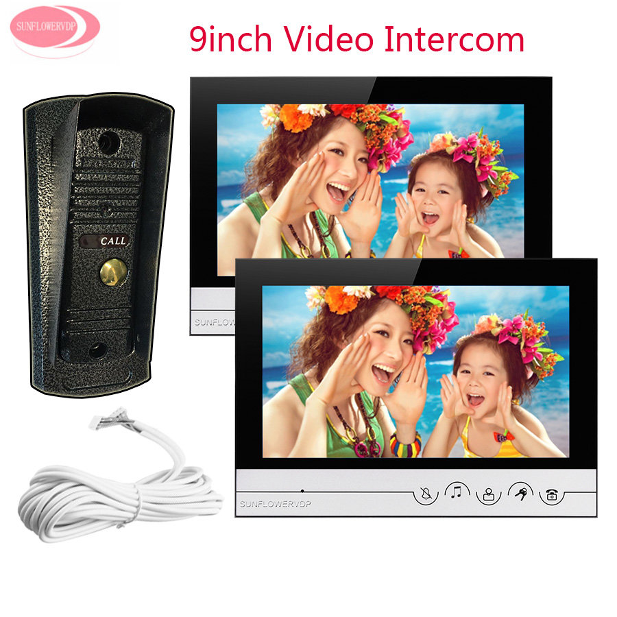 For 2 Apartment 9 Video Intercom Monitor Intercom font b Night b font font b Vision