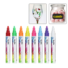 chalk marker erasable 6mm Reversible Tip 8 neon colors for glass,chalkboard,Menu Boards