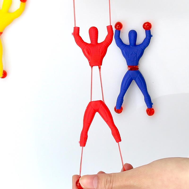 10pcs/set Novelty Sticky Wall Climbing Toys For Children Funny Resistant Stretching Educational Toys Kids Boy Game