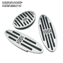 Foot Rest Pedal Sticker for Mini Cooper One+S R50 R53 R55 R56 R60 R61 F55 F56 F54 F60 Countryman Clubman Accessories 2/3PCS недорого