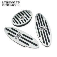 Foot Rest Pedal Sticker for Mini Cooper One+S R50 R53 R55 R56 R60 R61 F55 F56 F54 F60 Countryman Clubman Accessories 2/3PCS