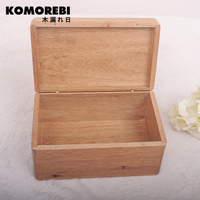 Komorebi Transparent Lid Retro Old Wooden Pencil Box Wood Jewelry Box Wooden Tower Multifunctional Stationery Box