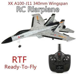 Image 2 - RC طائرة A100 J11 EPP 340 مللي متر الجناح 2.4 جرام 3CH الثابتة الجناح الطائرات في الهواء الطلق لعب الأطفال هدية