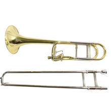 Fkey contrabass trombone yellow brass body with case and